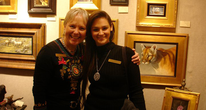 Rebecca with Sandy from Whistle Pik Galleries in Texas